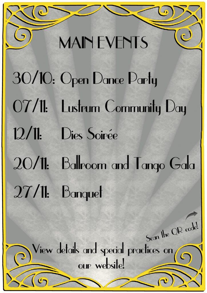Lustrum events flyer